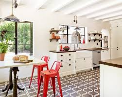 Red Black White Kitchen - kitchen design red and white beautiful kitchen cabinets in white