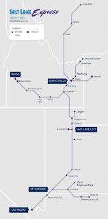 Salt Lake City Map Route Map Salt Lake Express