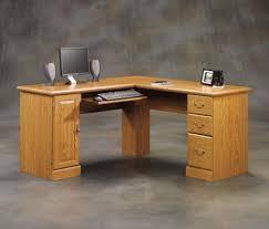 Oak Corner Computer Desk With Hutch Sauder Orchard Hills Carolina Oak Corner Computer Desk At Menards