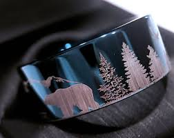 the bears wedding band wedding bands bears in mountains forest landscape bears
