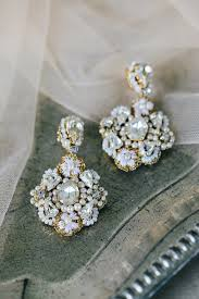 drop earrings wedding fiorenza earrings edera couture lace bridal jewelry accessories