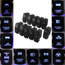 Led Blue Light Bar by 12v 24v Car Marine Boat Rv Trailer Toggle Rocker Switch Led Light