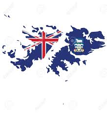 Excelsior Flag Flag Of The Falkland Islands Overlaid On Detailed Outline Map