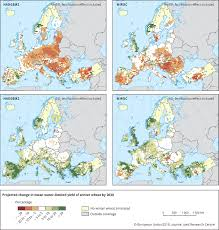 Northern Europe Map Water Limited Crop Yield U2014 European Environment Agency