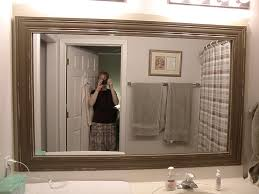 Large Mirrors For Bathrooms Outstanding Bathroom Mirrors Enlarge Tiny Space Frameless Ideas