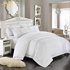 solid white comforter set romorus wholesale hotel bedding set 4 6 pcs white king queen size