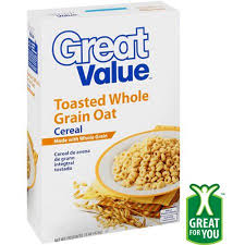 great value toasted whole grain oat cereal 15 oz walmart com