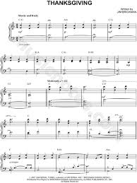jim brickman thanksgiving sheet piano in c major