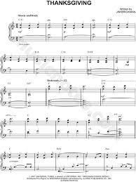 jim brickman thanksgiving sheet piano in c major