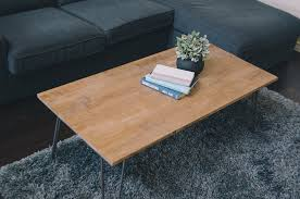 pillow thought diy industrial coffee table