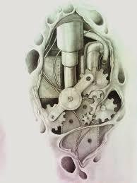 nice biomechanical tattoo design by aqata16