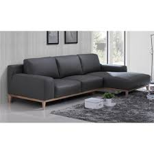 2 Seater Chaise Lounge Amelia 3srch 2s Full Leather Black 500 Beech Base 793ss