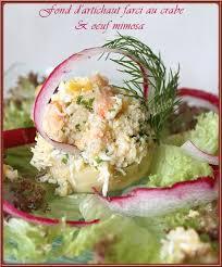 cuisiner les fonds d artichauts la table lorraine d amelie fond d artichaut farci au crabe et œuf