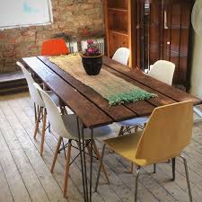 large rustic shabby chic industrial table
