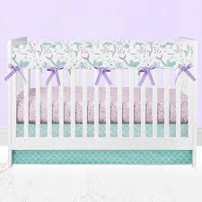 Teal And Purple Crib Bedding Swimming Mermaids Baby Crib Bedding In Purple And Mint Teal