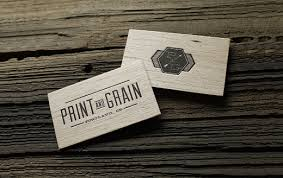 business cards printed on wood 11112