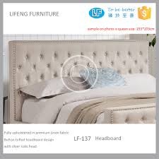 american style bedroon furniture fabric upholstered headboard set