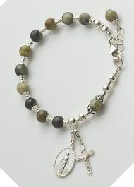 connemara marble rosary rosary bracelet sterling silver with connemara marble