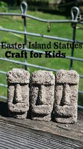 island statues history craft for kids