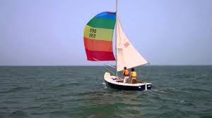 cape cod sea camps rhodes 18 sailboat with spinnaker youtube