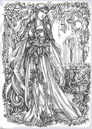 267 fantasy lady coloring pages images