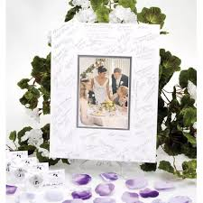 wedding autograph frame silver mat autograph frame wedding photo w silver pen