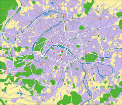 Map Paris France by Layered Vector City Map Of Paris France Royalty Free Cliparts