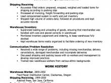 shipping and receiving resume shipping and receiving resume sle