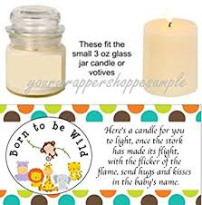 baby shower candle favors 56 jungle safari animals baby shower candle party
