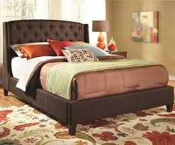 woodbridge home designs bedroom furniture wingback upholstered dark brown button tufted queen size bed