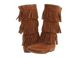 womens ugg boots zappos minnetonka calf hi 3 layer fringe boot at zappos com