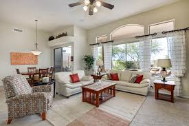 The Living Room Scottsdale Adobe Style Home For Sale Near Numerous Local Golf Courses