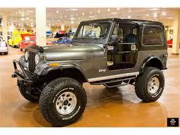 brown jeep cj7 renegade 1986 jeep cj7 for sale classiccars com cc 981926