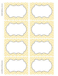 chevron labels print your own labels yellow and grey chevron