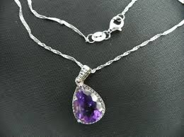 diamond ring necklace images 10ct pear amethyst gemstone jewelry and diamond pendant necklace jpg