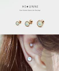 gold cartilage earrings gold cartilage earring zeige earrings