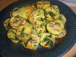 cuisiner epinard frais frittatas aux épinards frais et jambon chez laurette