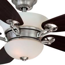 hton bay brushed nickel ceiling fan hton bay minorca 52 in indoor brushed nickel ceiling fan with