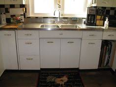 Kitchen Cabinets Sets For Sale Vintage Retro Metal Kitchen Cabinet Cast Iron Sink Ebay Tinny