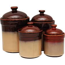 brown kitchen canister sets sango 4 canister set brown kitchen dining brown