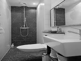 Black And White Subway Tile Bathroom Black And White Bathroom Subway Tile Light Brown Finish Stained