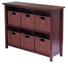 Rattan Baskets by Furniture Stunning Bamboo Storage Shelves With 6 Rattan Baskets