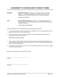 sample payment plan agreements