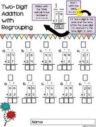 addition with regrouping made easy 8 math worksheets set 1