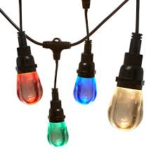 heavy duty string lights newhouse lighting outdoor led color changing rgb string lights with
