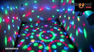 Disco Light Bulb E27 3w Colorful Rotating Rgb Light Banggood Com Youtube