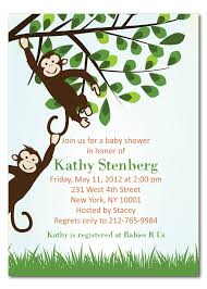 monkey theme baby shower invitation ideas registaz com