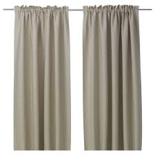 Ikea Beige Curtains Furniture Dupioni Silk Drapes Unique 50 Thick Beige Vilborg