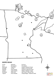 Map Of Wisconsin And Minnesota by Minnesota Map Worksheet Coloring Page Free Printable Coloring Pages