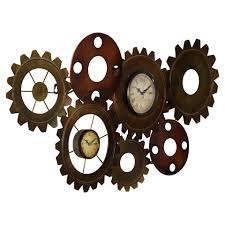 beautiful decoration metal gear wall clock surprising design trent